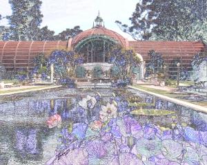 Botanical Building, Original Photograph, Linda Lepeirs, Studio 34B, Spanish Village Art Center, Balboa Park.