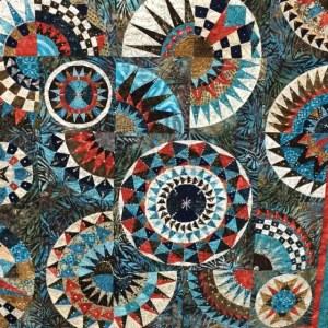 Handmade Quilt by artist Peggy Caballero, Spanish Village Art Center, Balboa Park, San Diego.